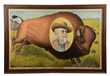 Buffalo Bill Wild West Painted Linen Banner, estimated at $15,000-25,000.