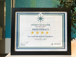 Charity Navigator Recognizes ProLiteracy as a 4-Star Rated Charity