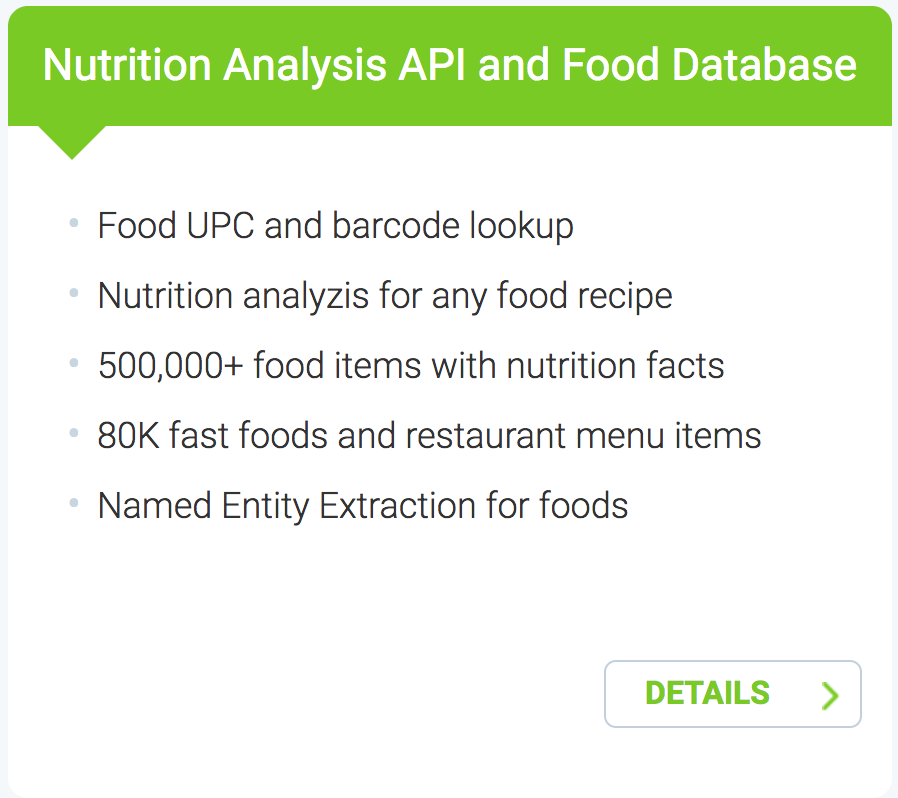 Edamam introduces food database product with detailed nutrition edamam introduces food database product with detailed nutrition information forumfinder Gallery