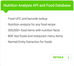 Edamam Introduces Food Database Product with Detailed