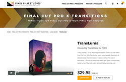 FCPX Transitions - TransLuma - Pixel Film Transitions