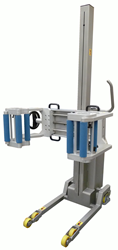 Packline Release The New Clamp Attachment With Removable Inner Rollers For Lifting And Rotating Rolls of Film, Foil And Paper In A Clean Room Environment.