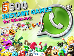 500 instant games for WhatsApp