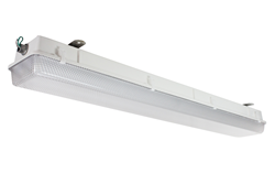 weatherproof/vapor proof fluorescent light fixture