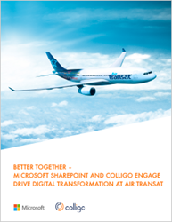 Case Study | Better Together – Microsoft SharePoint and Colligo Engage drive digital transformation at Air Transat.