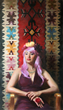 Anna Rose Bain, Native Daughter Modern Woman, oil on linen panel, 42 x 24 inches