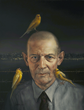 David Bowers, Robert Stroud (The Bird Man From Alcatraz), oil on linen, 18 x 24 inches