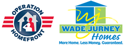 Operation Homefront and Wade Jurney provide a new mortgage-free home to a veteran family.