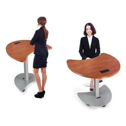 Quark 2 Sit Stand Mobile Conference Table