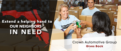 Crown Automotive Group Partners With Florida Dream Center For A Week Long Food Drive For Those Affected By Hurricane Irma
