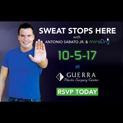 Sweat Stops Here with Antonio Sabato Jr and miraDry