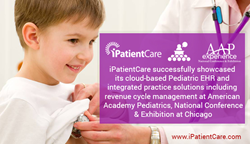 iPatientCare showcased its cloud-based Pediatric EHR and integrated practice solutions including revenue cycle management at AAP2017
