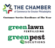 Green Lawn Fertilizing / Green Pest Solutions Wins the 2017 Greater Philadelphia Chamber of Commerce Excellence Award for Customer Service