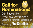 Via Satellite is Proud to Announce it is Now Accepting Nominations for the 2017 Satellite Executive of the Year Award