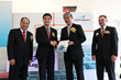 At the official Autostore launch: Ng Kim Hung, Yusen Logistics Singapore; Heng Chee How, Prime Minister's Office; Kenji Mizushima, Yusen Logistics Co. Ltd.; Francis Meier, Swisslog.