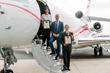 Scholarship Recipients Lex Lizotte and Soraya Eftekhari with Scott Cutshall, VP Clay Lacy Aviation at John Wayne Airport
