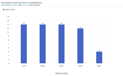 Facebook Lead Ad Form Completions