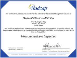 General Plastics Nadcap Certification