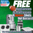 If Denver Shuts Out Oakland, Appliance Factory & Mattress Kingdom will Refund Appliances & Mattress Purchases that Week.