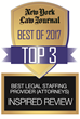 Top 3 2017 NYLJ Legal Staffing Firm