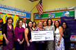 Provident Bank Foundation presents $15,000 to Children's Literacy Initiative for Work in Kearny, New Jersey, School District.