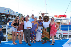 Fury Crew and Guests Before The Sunset Cruise