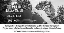 PXG Extends 2nd Million Dollar Match for Hurricane Irma Relief