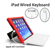 Wired Keyboards for iPad Make iPads Serious Writing Tools, Apple MFi Certified