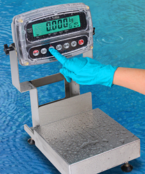 Cardinal Scale's New Admiral Series IP69K-Rated Washdown Bench Scales