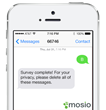 Mosio's mPIN Survey Completion Message