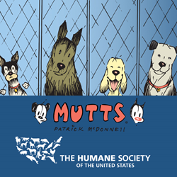 MUTTS pledges to support The Humane Society of the United States' Animal Rescue Team