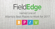 FieldEdge® Named One Of Atlanta's Best Places To Work For 2017