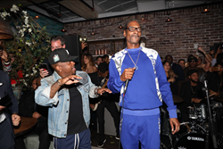Eugene Remm and Mark Birnbaum celebrate the CATCH One Year Anniversary with Snoop Dogg and Jermaine Dupri