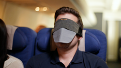 Pull-down mouth mask