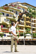 Harris Hawk Joins Wildlife at Velas Vallarta