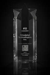 In 2017, Principled Technologies won the #11 Best Place to Work in the Triangle for the medium-sized business category.