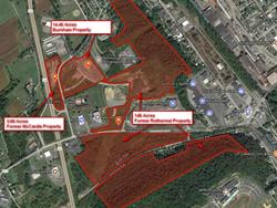 163 acres of development land in Burnham, PA