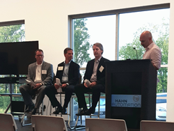 Smart Factory Panelists: (L to R) Craig Todd, CEO of Amend Consulting, Tony Canonaco, President of Balluff, Inc., John Baines, President of HAHN Automation, Paul Miklautsch, Co-Founder of Start Something Bold