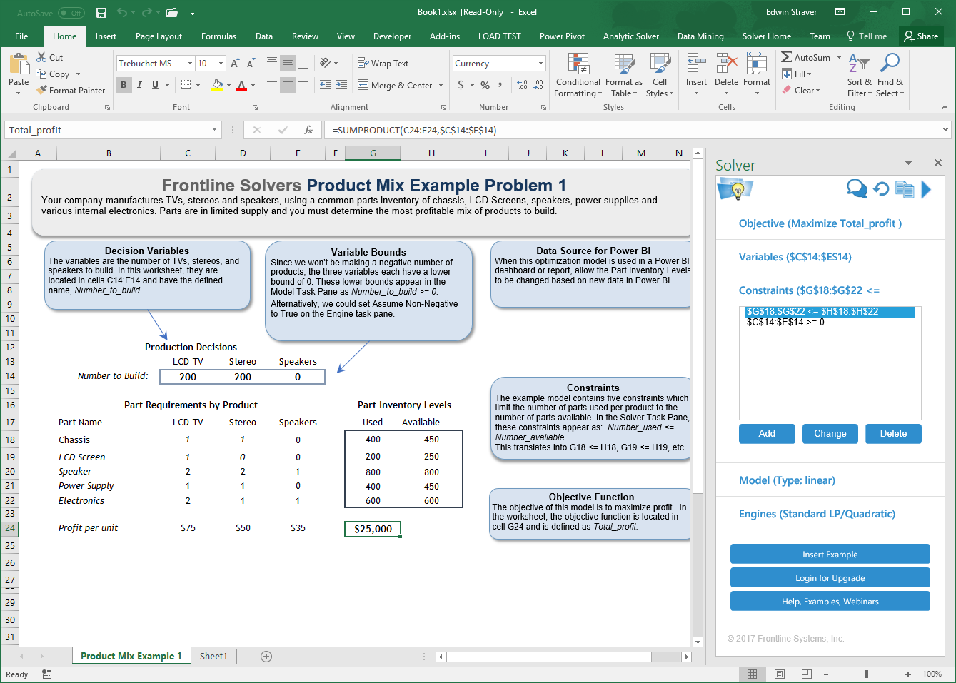 how to use solver in excel online