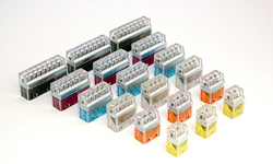 twist-on connectors, wire connectors, wire nuts, clear connectors, push-in wire connectors, wire termination, easy connector termination, safe connectors, electrical products, electrical distribution, lighting connectors, LED lighting connectors, lighting