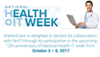 iPatientCare shows its dedication in celebrating National Health IT Week and Exhibits Active Participation