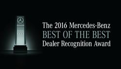 Mercedes-Benz 2016 Best of the Best Dealer Recognition Award, Mercedes-Benz of Baton Rouge