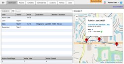 VisitEye employee GPS tracking app for Apple and Android