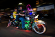 Motorcyclists participate in the Parade of Lights in Raleigh, N.C., a charity event at Ray Price Capital City Bikefest.
