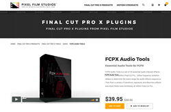 FCPX Plugins - FCPX Audio Tools - Pixel Film Studios