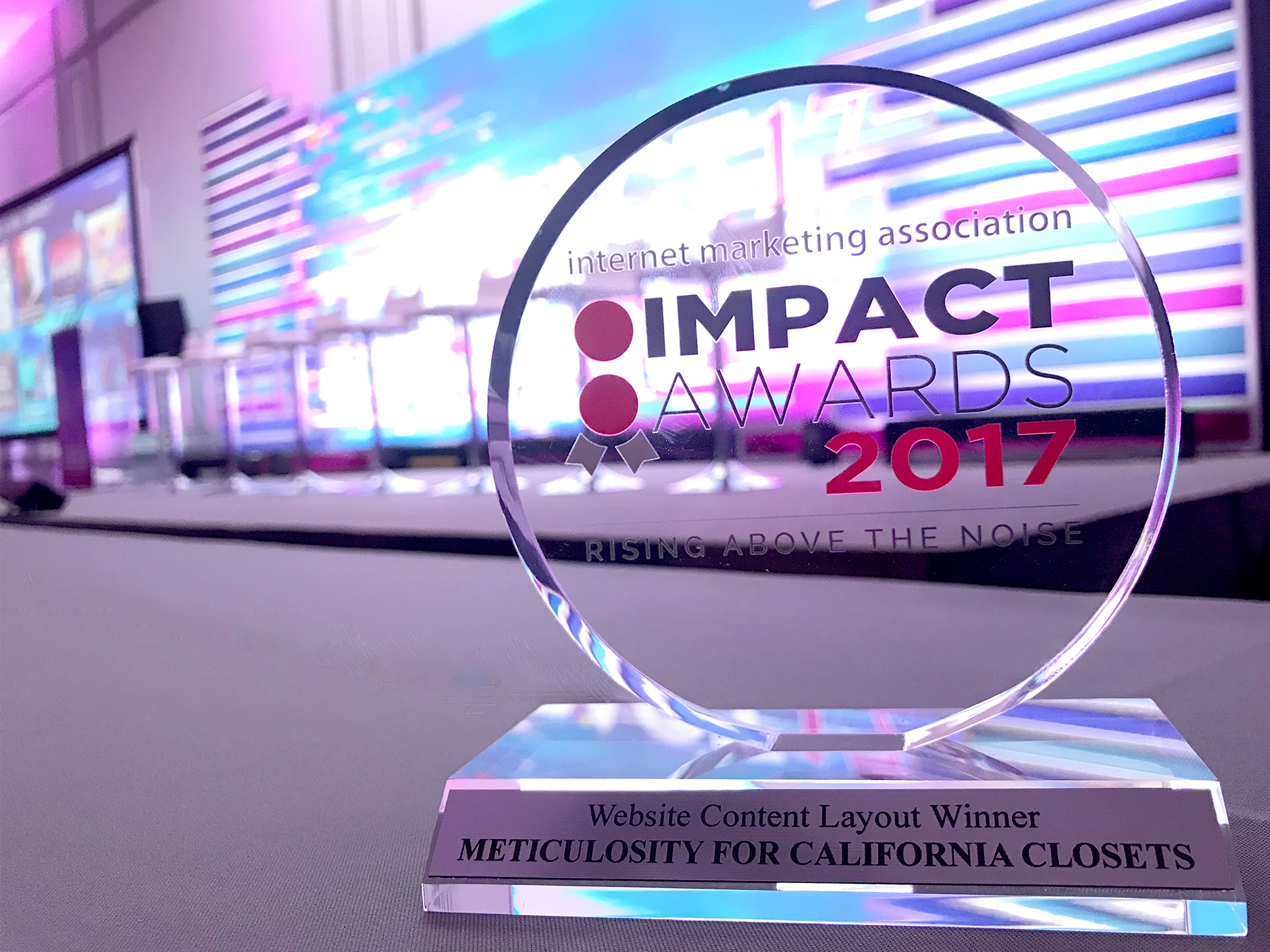 California closets las vegas - Meticulosity Receives Impact Award For Website Content Layout For California Closets