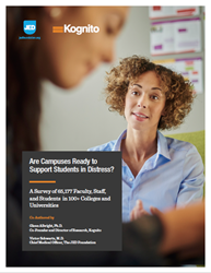 Survey Reveals College Faculty & Students Do Not Feel Prepared to Notice and Help Students In Psychological Distress