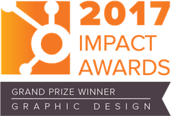 Hubspot 2017 Impact Award Grand Prize Winner for Graphic Design