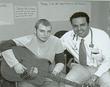 Children's Music Fund's Raffi Tachdjian, MD and patient Justin