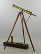Troughton & Simms, London, brass telescope on wood tripod stand